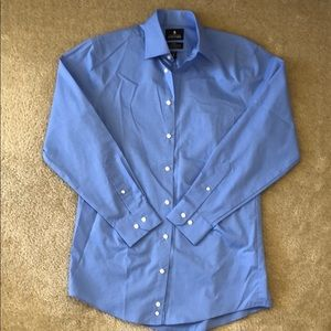 Stafford Blue Button Down Dress Shirt 15